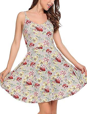 AINI - Vestido de verano para mujer, algodón de verano, sexy ...