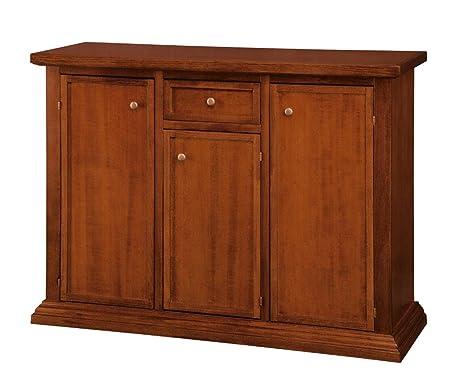 Credenza Arte Povera Color Noce : Credenza buffet cassettiera porte cassetto legno arte povera