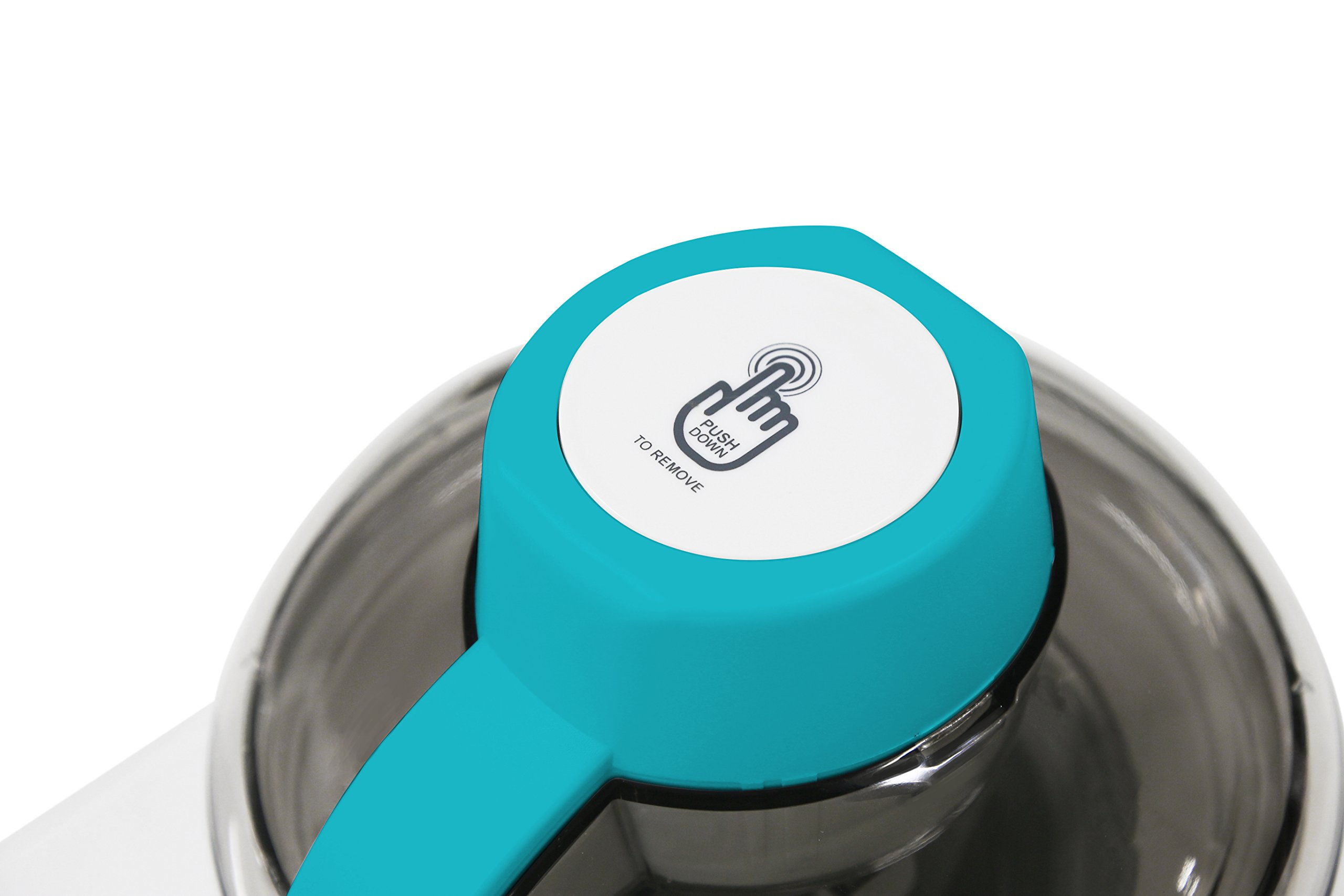 Mr. Freeze EIM-700T Self-Freezing Self-Refrigerating Ice Cream Maker, 1.5 Pint, Turquoise by Maxi-Matic (Image #4)