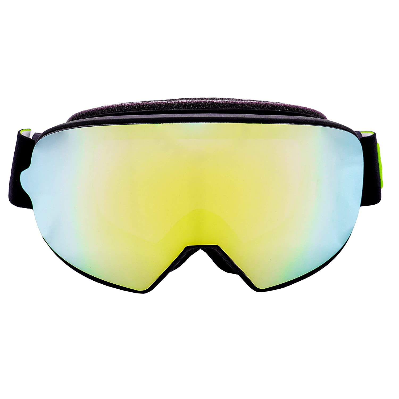 UV-Schutz /& Gr/ünes Wechsel-Glas Enduro Broken Head Made2Rebel MX Goggle Schwarz Motorrad-Brille F/ür Motocross