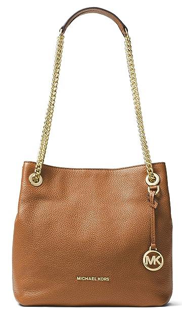 a405b8f51ac9 Michael Kors Womens Jet Set Chain Pebbled Leather Shoulder Handbag Brown  Medium: Handbags: Amazon.com