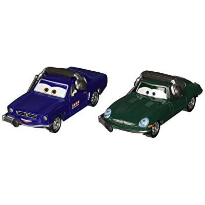 Disney/Pixar Cars Brent Mustangburger with Headset and David Hobscapp with Headset Vehicle 2-pack: Toys & Games
