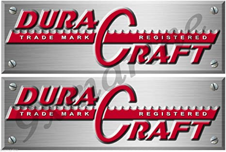 Amazon com: Two Dura Craft Boat Remastere d Decals/Stickers