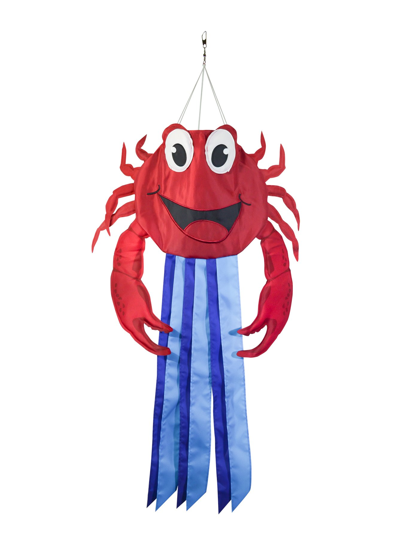 In the Breeze 5051 Windtail Outdoor Hanging Windsock Decoration, 38-Inches, Crab