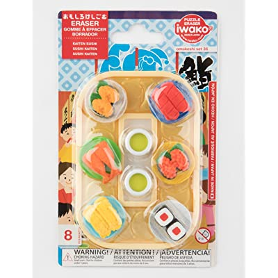 "IWAKO Japanese Eraser ""Conveyor Belt Sushi Blister Set"": Office Products"