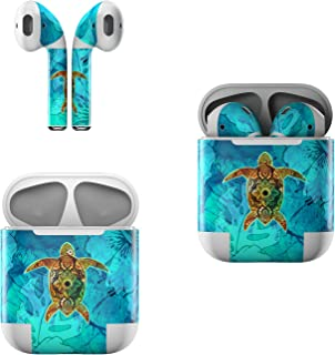 product image for Skin Decals for Apple AirPods - Sacred Honu - Sticker Wrap Fits 1st and 2nd Generation