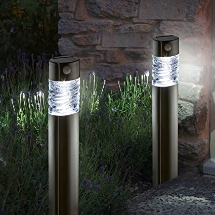 Smart Solar Pharos bolardo luz sensor de movimiento , 2 unidades