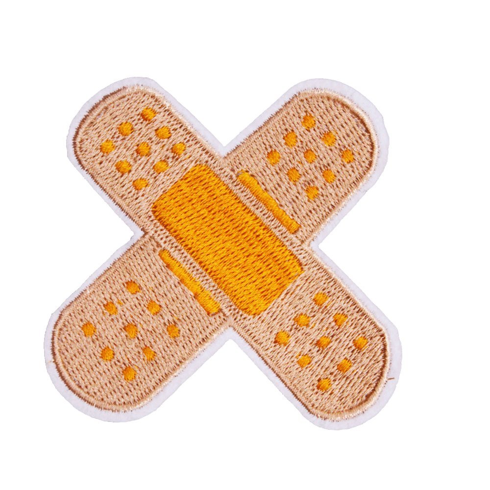 U-Sky Band Aid Patch for Clothing, Pack of 1, Sew or Iron on Patches for Jeans, Jackets, Backpacks, Costume Jerrmy