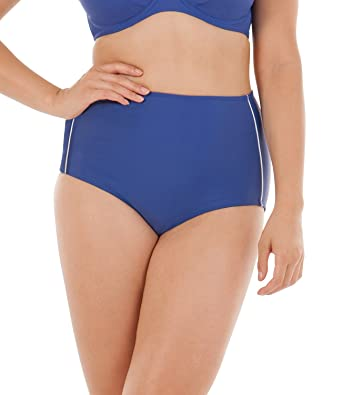 dfc12d0dacbad Curvy Kate Swimwear Sail Away High Waist Bikini Brief CS4565 Blue/White:  Amazon.co.uk: Clothing