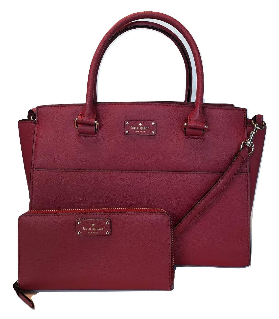 fb1e71488a Amazon.com: Kate Spade New York Grove Street Lana WKRU5322 Bundled with  Matching Neda Wallet WLRU2820 (Red Carpet): Home & Kitchen