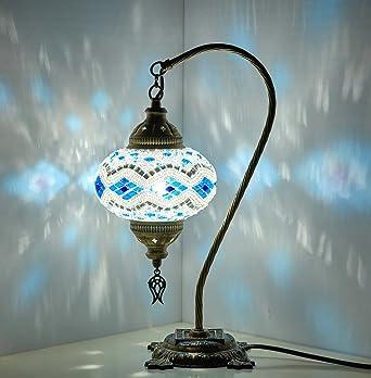 Table Lamp Swan Neck Lamp Shade Arabian Mosaic Lamps Moroccan