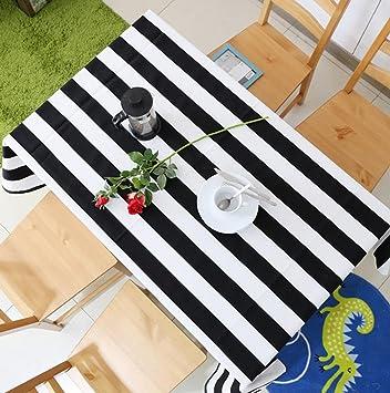 Tischdecke Schwarz-Weiß Streifen Einfache Moderne Tischdecke ...