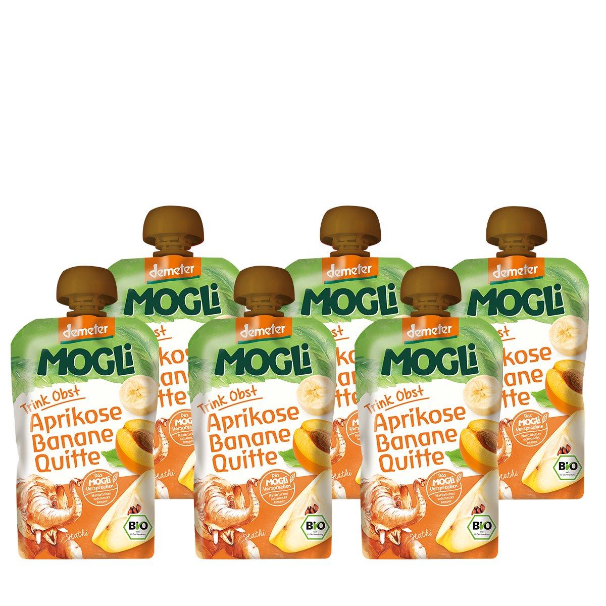 MOGLi Bio (demeter) Trink Obst Quetschbeutel Aprikose 12er Pack (12x100g) MOGLi Naturkost GmbH