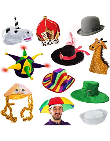 d33a1292b70 6 Assorted Dress Up Costume   Party Hats by Funny Party Hats (6 Adult  Costume