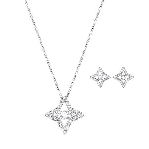 89b59cff19de0 Amazon.com: Swarovski Crystal Sparkling Dance Star Rhodium Plated ...