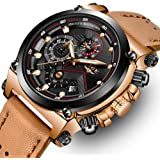 LIGE Mens Watches Waterproof Chronograph Stainless Steel Analog Quartz Watch Men Luxury Brand Fashion Dress Business Wristwatch