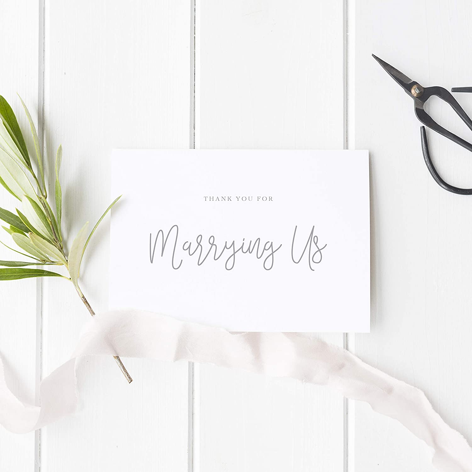 Thank You For Marrying Us Card Hand Script