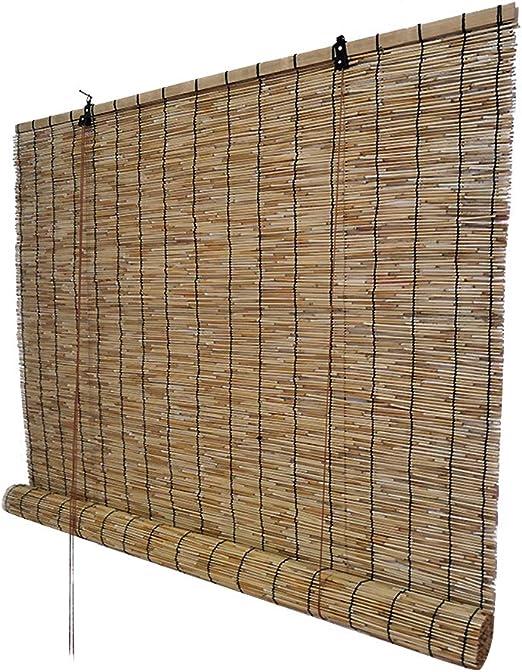 Persianas enrollables de bambú Cubiertas de caña Natural para Uso ...