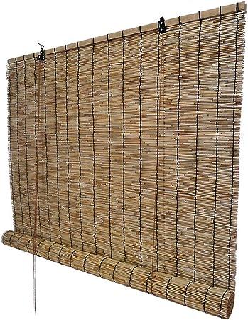 Persianas enrollables de bambú Cubiertas de caña Natural para Uso en Interiores y Exteriores Persianas Decorativas Protección Solar Accesorios a Prueba de Humedad Personalizables: Amazon.es: Hogar