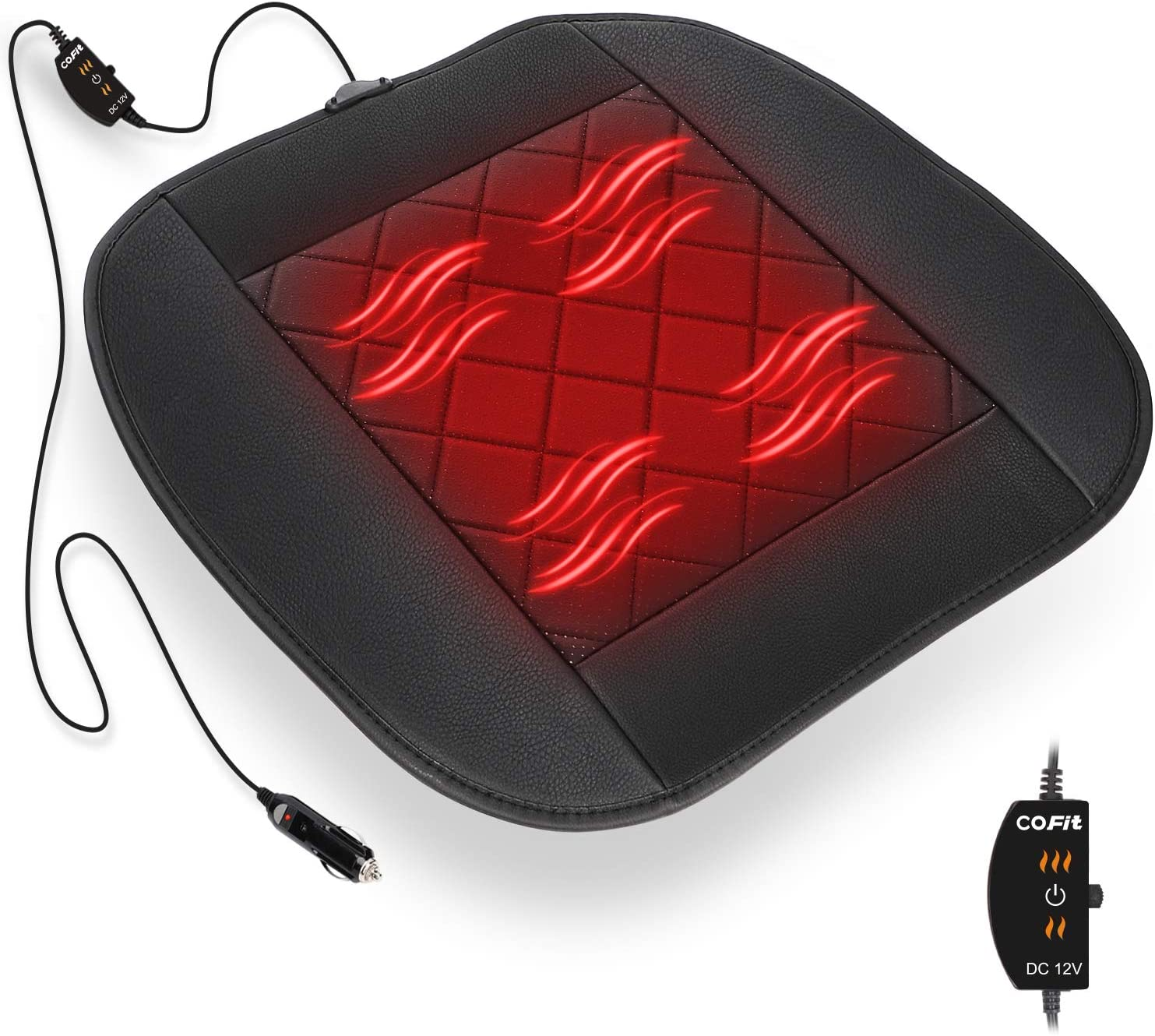 COFIT Heating Car Seat Cushion, 12V Comfortable Seat Pad Heater Perfect for Cold Weather and Winter Driving