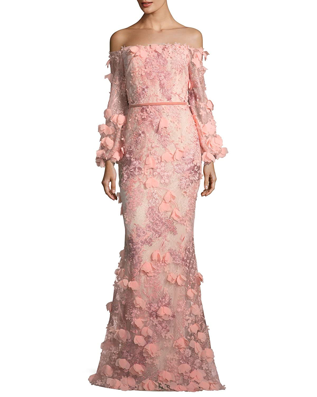 c810b6ea Online Cheap wholesale Marchesa Notte Womens Off The Shoulder 3D  Embroidered Gown Dresses Suppliers