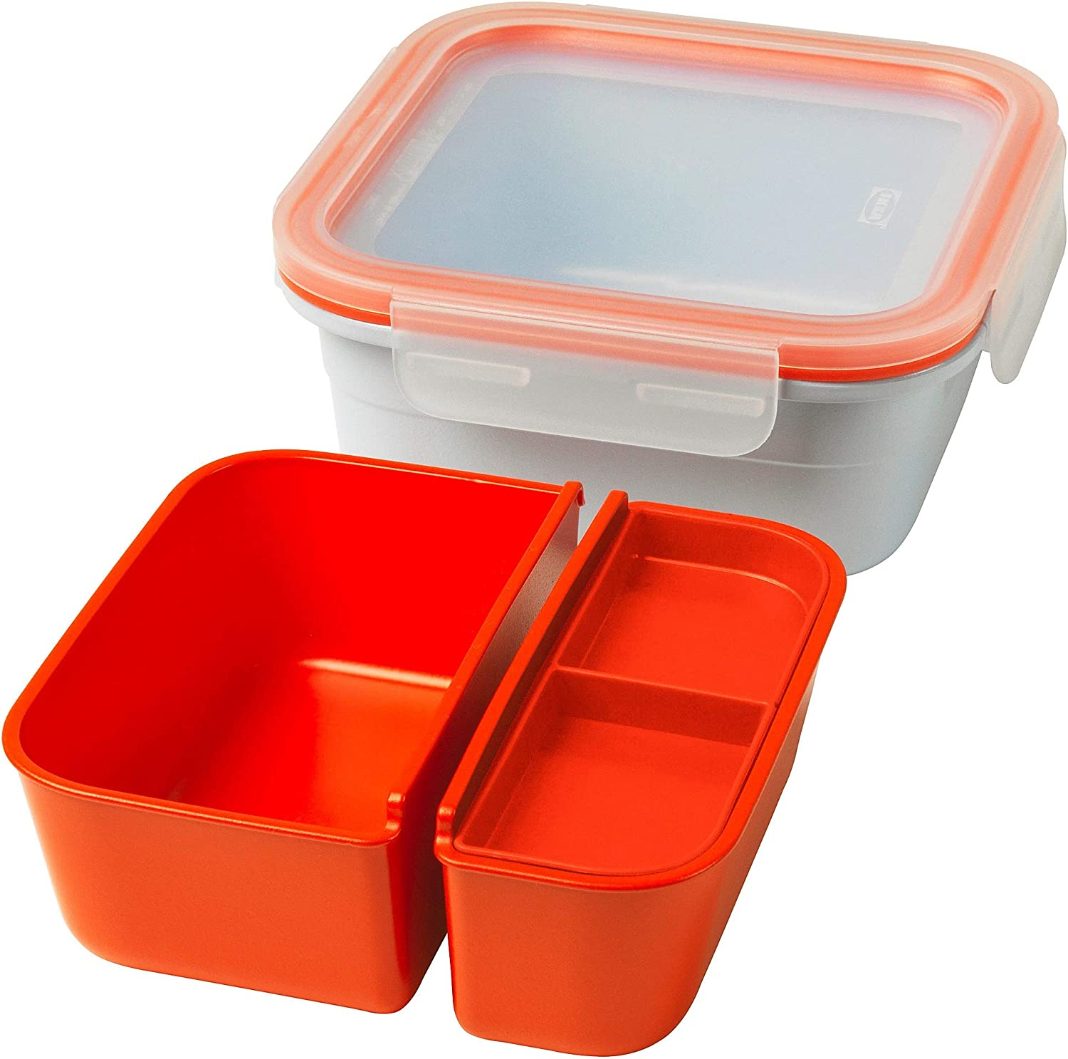Amazon Com Ikea 365 Lunch Box With Containers Square Kitchen Dining