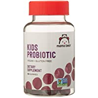 Amazon Brand - Mama Bear Vegan Probiotic, 60 Gummies, 1 Billion CFU per Gummy