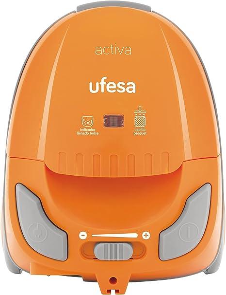 Ufesa Activa - Aspiradora con bolsa, eficiencia energética A, cepillo especial parquet, radio de acción de 8 m: Amazon.es: Hogar