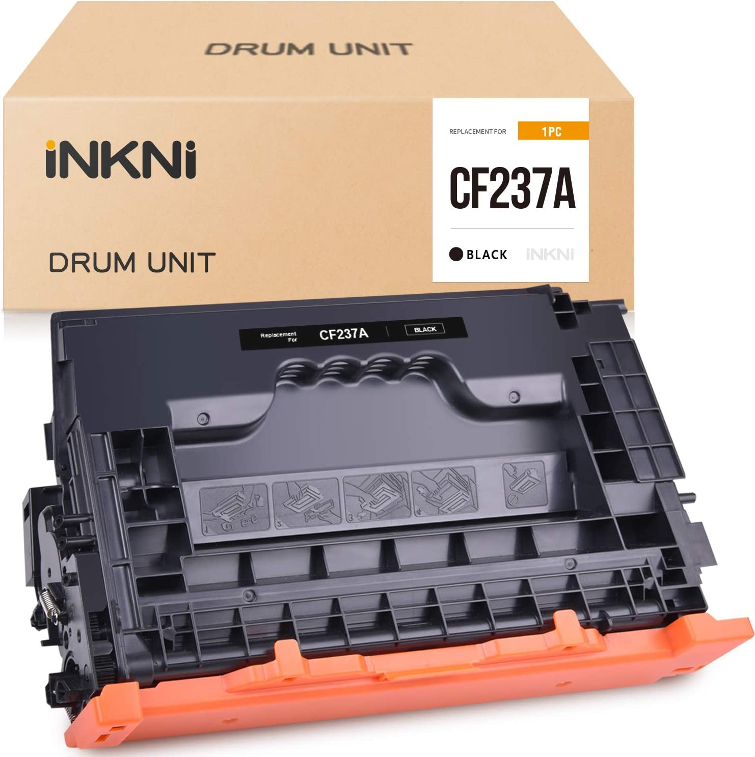 INKNI Compatible Toner Cartridge Replacement for HP 37A CF237A CF-237A for Laserjet Enterprise M607 M607n M607dn M608 M608n M608dn M608x M609 M609dn, MFP M631 M632 M633 (Black,1-Pack)