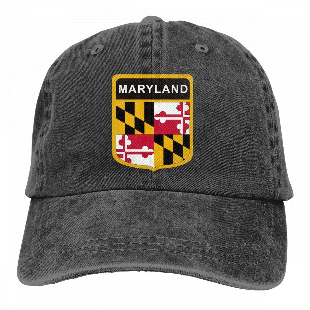 Best4U/&Me Unisex Vintage Washed Dad Hat Maryland Flag Cute Adjustable Baseball Cap