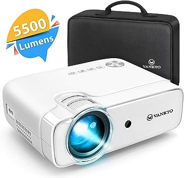 Vankyo - Mini proyector de vídeo Full HD (1280 x 720P, 5000 ...