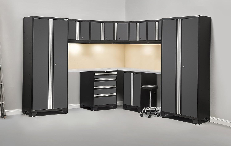 newage products bold 30 series stainless steel corner storage set 12 piece gray amazoncom