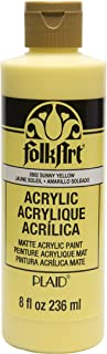 product image for FolkArt Acrylic Paint in Assorted Colors (8 oz), , Sunny Yellow