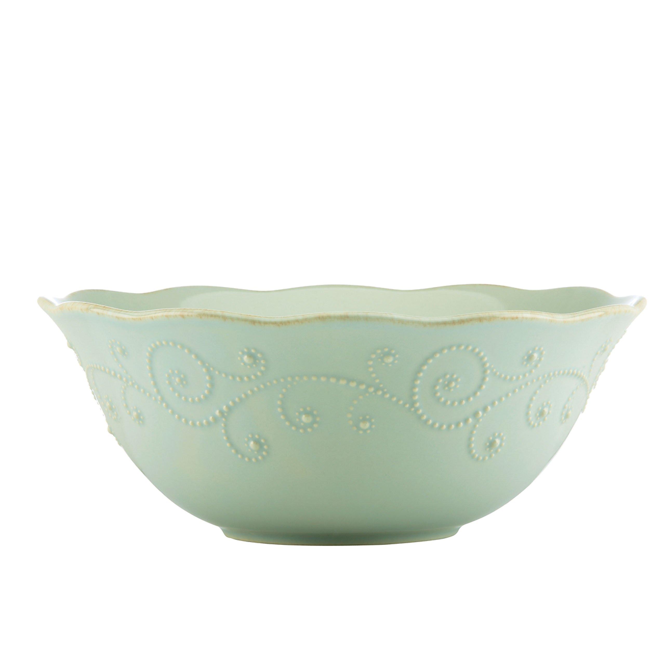 Lenox French Perle Serve Bowl, Ice Blue