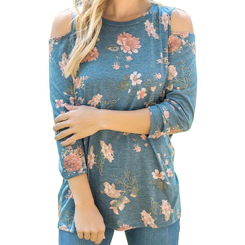 Autumn&Winter Clothing,Fulltime(TM) Women Girl Strapless Print Long Sleeve Crop Jumper ZSS70921428