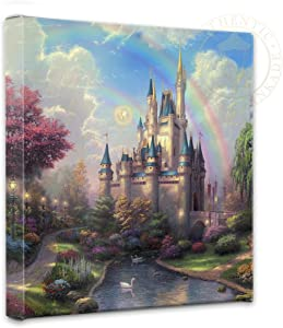 Thomas Kinkade - Gallery Wrapped Canvas , A New Day at the Cinderella Castle , 14