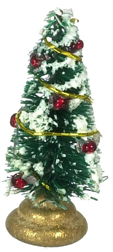 dollhouse miniature decorated christmas tree - Miniature Christmas Decorations For Dollhouses