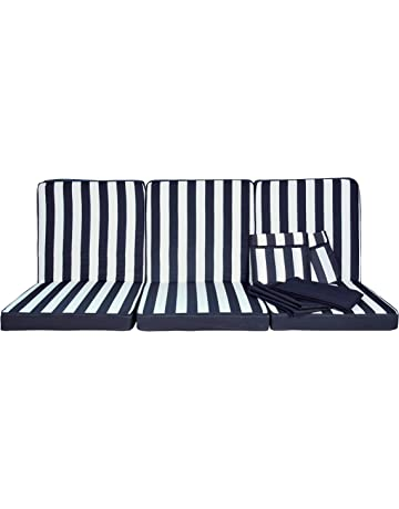 Stiliac 9601t311 Juego Almohadas Repuesto, Rayas Azul/Blanco, 174 x 58 x 8