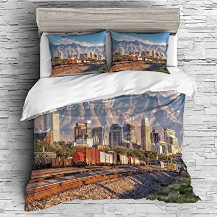Amazon.com: 3 Pieces/All Seasons/Home Comforter Bedding Sets ...