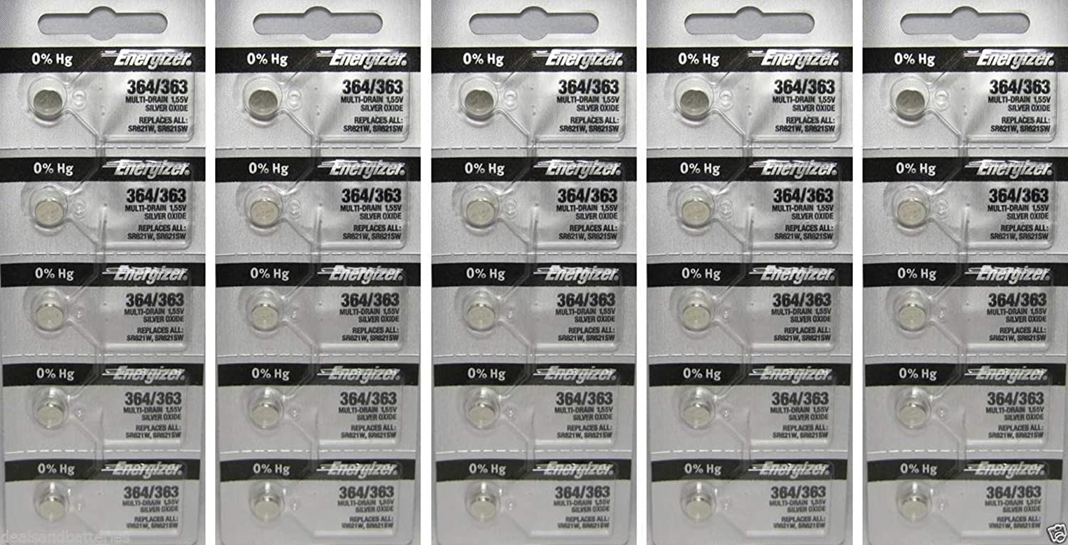25 364 Energizer Watch Batteries SR621SW Battery Cell