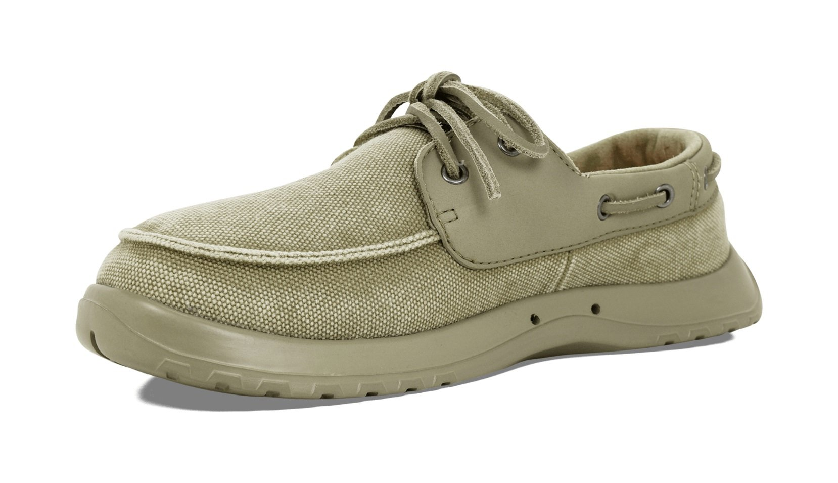 SoftScience The Cruise Canvas Men's Boating Shoes - Khaki, Size 8 by SoftScience