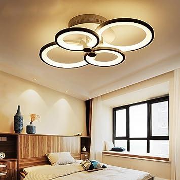 fbc087cd1fcbec DJ Moderne Einfache Kreative LED Kreis Kreis Wohnzimmer Schlafzimmer Mode  Restaurant Licht Acryl Persönlichkeit Deckenleuchte