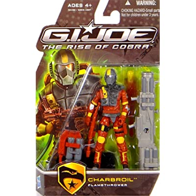 Charbroil Flamethrower Action Figure - GI Joe Movie: Rise of Cobra: Toys & Games