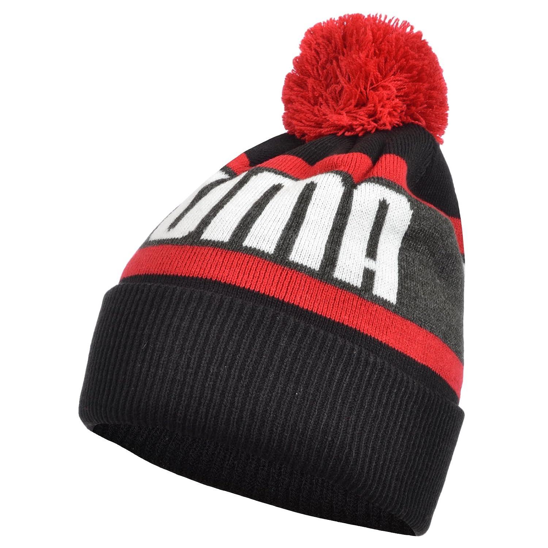 Puma Wording Logo Kids Beanie Hat - Black - One Size 17281_79222