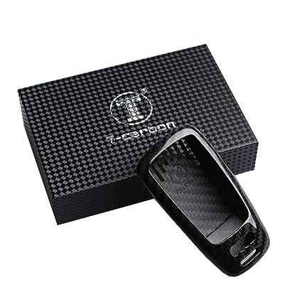 FancyAuto - Llavero Ligero de Fibra de Carbono Delgado Especial para AudiA4L A4 A5 TTS5 con Caja de Regalo de Almacenamiento, Negro