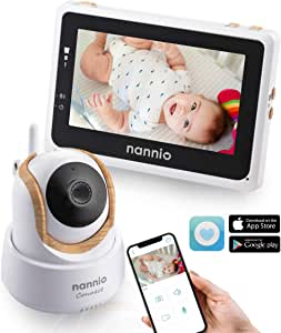 Nannio Connect Video Baby Monitor with 4.3 inch Touch Screen Parent Unit and HD Pan-Tilt-Zoom Camera,Mini-Nanny App Available for iOS and Android,Outstanding Night Vision,VOX and Temperature Alert Australia Plug…