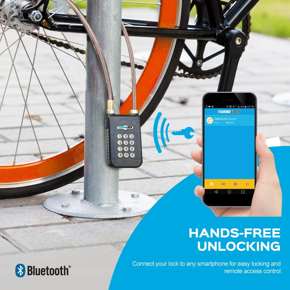 TURBOLOCK TL-400 Smart Bluetooth Keyless Bike Lock with Keypad and Sharable eKeys, Battery Powered, Waterproof & Weather Proof for Bicycles, Motorcycles, Gates & Fences by TURBOLOCK (Image #3)