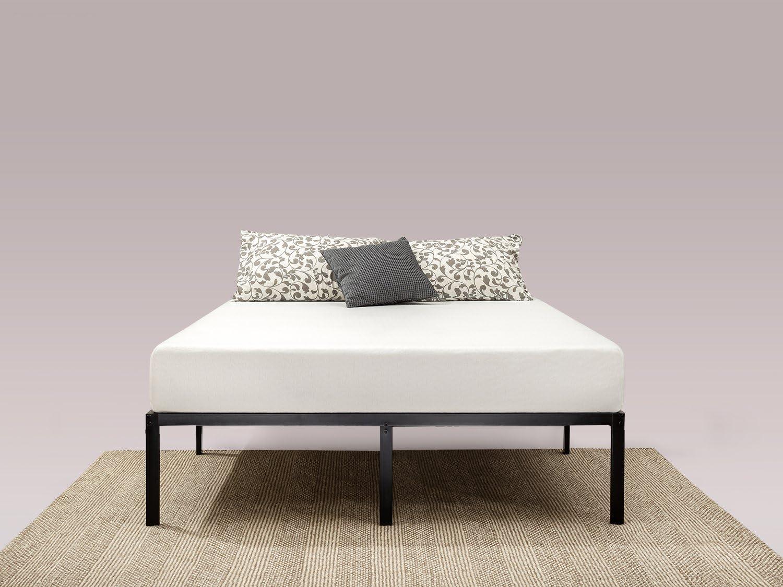 Zinus Bastidor clásico para cama de plataforma de metal con soporte de listones de acero Yelena de 35,6 cm, Base para colchón, Sin necesidad de usar ...