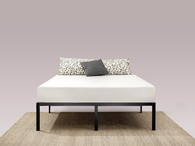 Zinus Yelena 35.5 cm Classic Metal Platform Bed Frame with Steel Slat Support / Mattress Foundation, Double: Amazon.co.uk