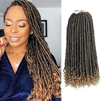 Crochet Dreadlocks Hair Extensions Kanekalon Jumbo Dreads Hairstyle Ombre Curly Fauxlocs Crochet
